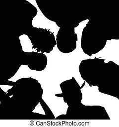 people senior silhouette with hat in black color illustration