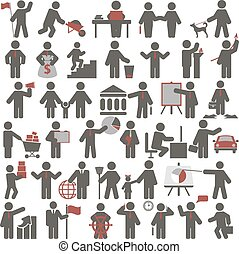 People. Set of icons