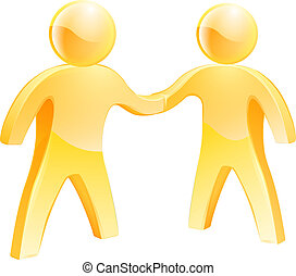 People shaking hands concept