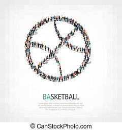 people shape basketball