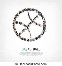 people  shape basketball