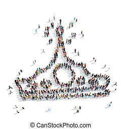 people  shape  crown cartoon