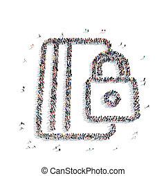 people shape documents lock