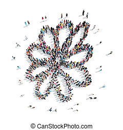 people shape flower cartoon