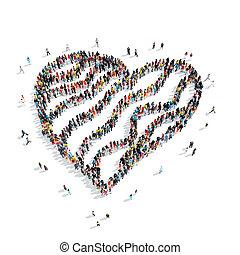 people shape gingerbread hearts wedding