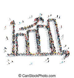 people shape graph cartoon