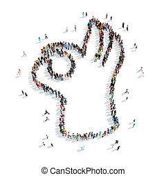 people shape  hand cartoon