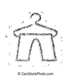 people shape hanger clothes