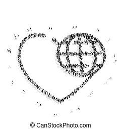 people shape hearts
