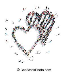 people shape hearts love