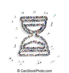 people  shape  hourglass icon