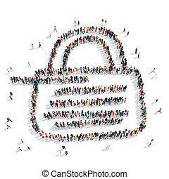 people shape lock cartoon