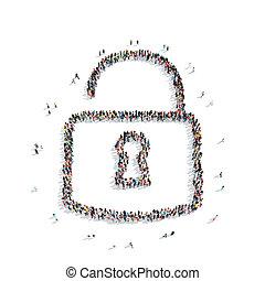 people shape lock flashmob