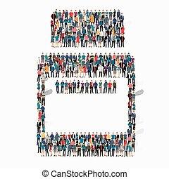 people shape medicine icon