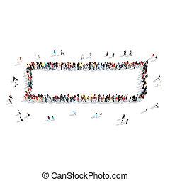 people shape minus cartoon