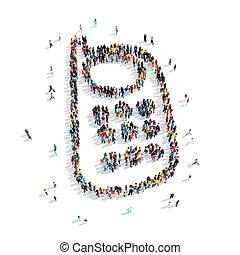 people  shape  mobile phone