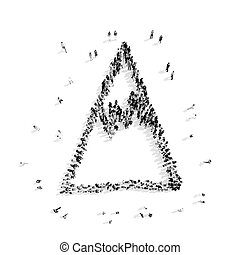 people  shape mountain cartoon