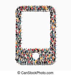 people shape   phone