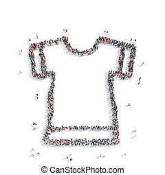 people shape T-shirt