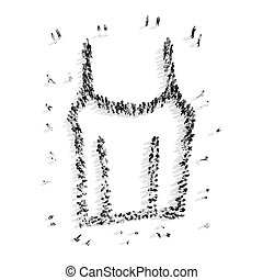 people shape T-shirt cartoon