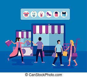 people shopping bags - shopping store online outdor guys ...