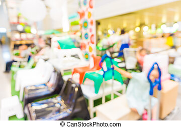 People shopping Home decor in department store.