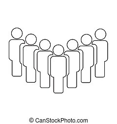People sign icon vector illustration