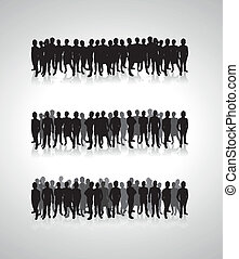 people silhouette background lines