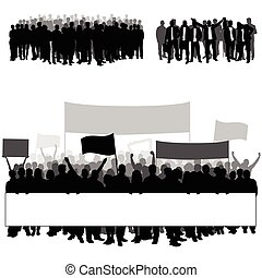 people silhouette in black color with transparent illustration on white