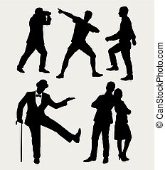 People silhouette - People male and female silhouette. good...