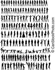 People silhouettes - illustration