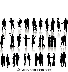 People silhouettes. Vector illustr