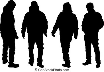 People silhouettes. vector works