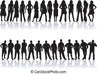People Silhouettes,Best friends