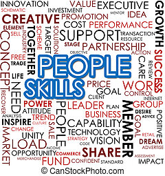 People skill word cloud
