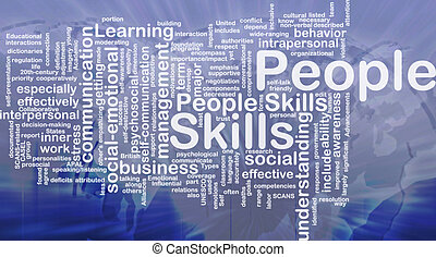 People skills background concept
