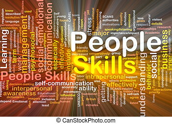 People skills background concept glowing - Background...