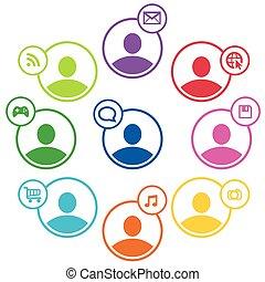People social network.