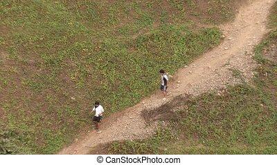 People, South America - video footage of people walking in...