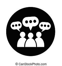 Needy people customers talking speech bubble words many people people speech bubble icon m4hsunfo