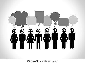 people speech bubbles