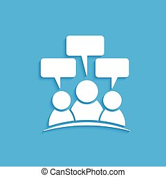 People speech logo. Vector graphic design