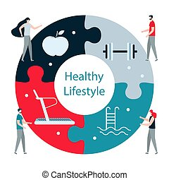 People. Sport. Fitness app. Healthy lifestyle