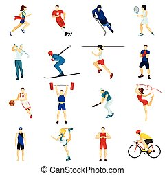 People Sport Icon Set