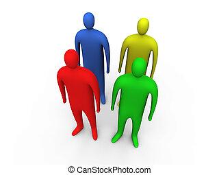 People standing #2 - 3d people standing #2