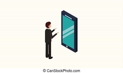 people storage data mobile - businessman phone folder file...