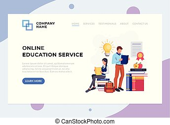 People student characters reading books. Education university college library concept. Vector flat cartoon isolated banner poster illustration