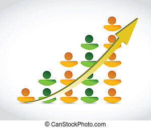 people success business graph illustration design