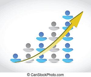 people success business graph illustration design