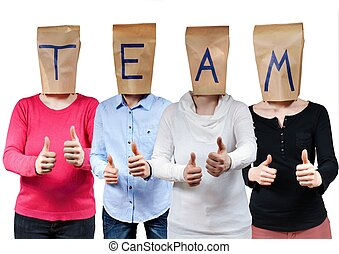 people symbolizing team